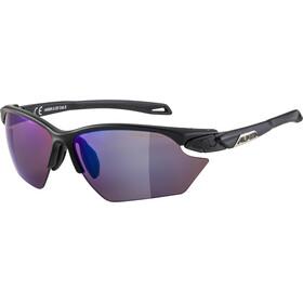 Alpina Twist Five HR S HM+ Glasses, black matt/blue mirror